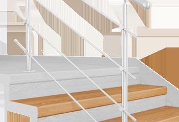 FLEX Buk 1200 x schodový nášlap, vruty a vyrovnávací lišta