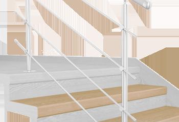 FLEX Douglas scuro 1200 x schodový nášlap, vruty a vyrovnávací lišta
