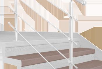 FLEX Santos chiaro schodový nášlap, vruty a vyrovnávací lišta