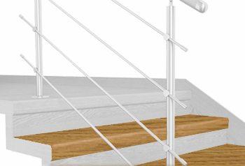 FLEX Dub natur 1200 x schodový nášlap, vruty a vyrovnávací lišta