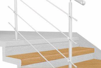 FLEX Buk světlý  1200 x schodový nášlap, vruty a vyrovnávací lišta