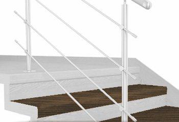 FLEX Ořech tmavý 1200 x schodový nášlap, vruty a vyrovnávací lišta