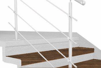 FLEX Dub antic 1200 x schodový nášlap, vruty a vyrovnávací lišta